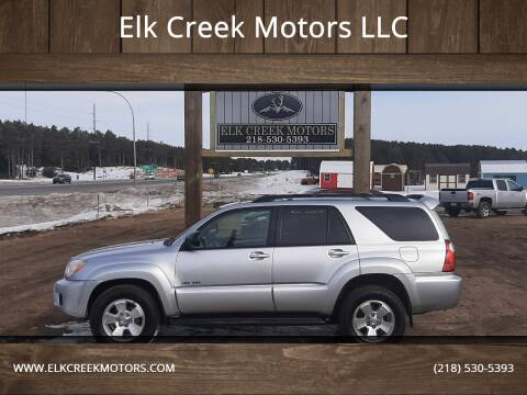 2007 Toyota 4Runner for sale at Elk Creek Motors LLC in Park Rapids MN