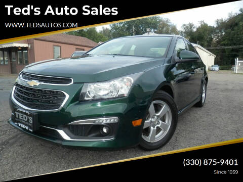 2015 Chevrolet Cruze for sale at Ted's Auto Sales in Louisville OH