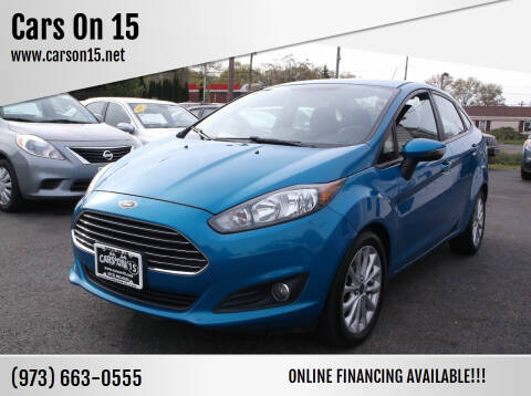 2014 Ford Fiesta for sale at Cars On 15 in Lake Hopatcong NJ