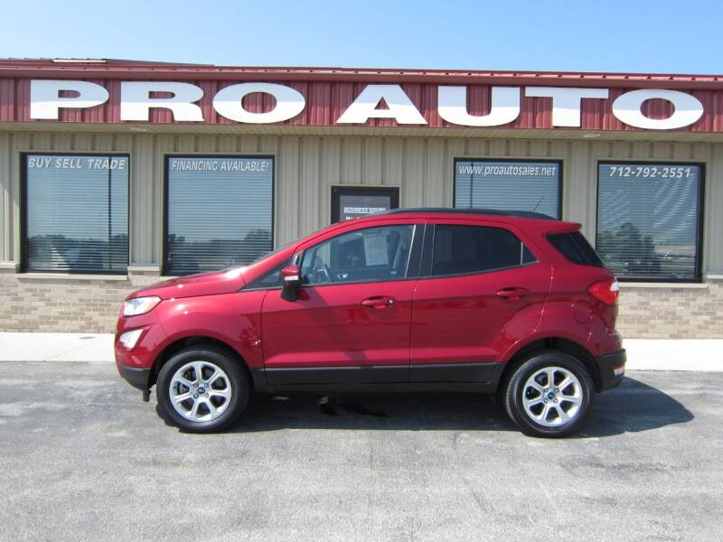 2018 Ford EcoSport for sale at Pro Auto Sales in Carroll IA