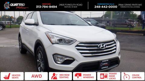 2016 Hyundai Santa Fe for sale at Quattro Motors 2 - 1 in Redford MI