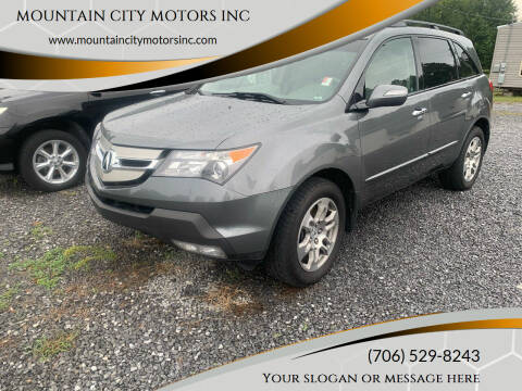 2009 Acura MDX for sale at MOUNTAIN CITY MOTORS INC in Dalton GA