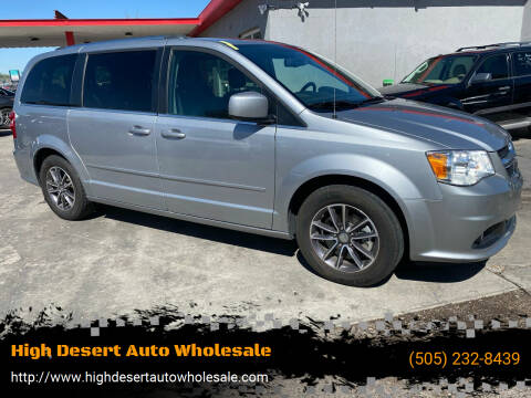 2017 Dodge Grand Caravan for sale at High Desert Auto Wholesale in Albuquerque NM