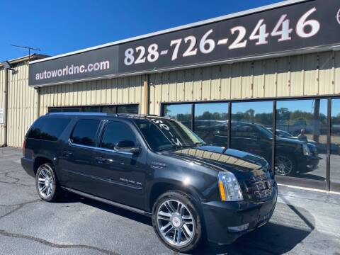 2013 Cadillac Escalade ESV for sale at AutoWorld of Lenoir in Lenoir NC
