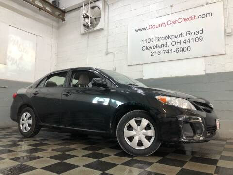 2011 Toyota Corolla for sale at County Car Credit in Cleveland OH