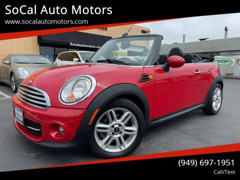 2013 MINI Convertible for sale at SoCal Auto Motors in Costa Mesa CA