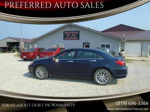 2013 Chrysler 200 for sale at PREFERRED AUTO SALES in Lockridge IA