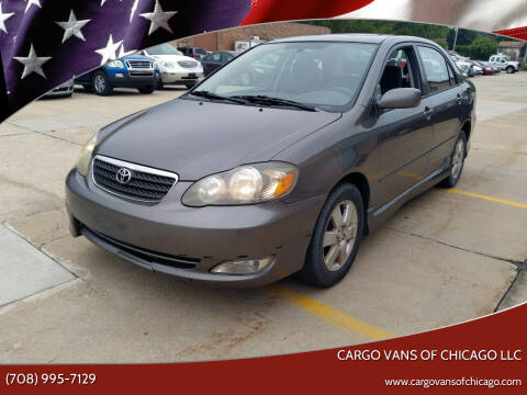 2006 Toyota Corolla for sale at Cargo Vans of Chicago LLC in Mokena IL
