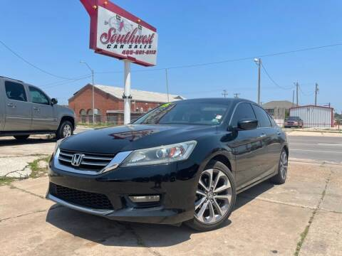 2015 Honda Accord for sale at Southwest Car Sales in Oklahoma City OK