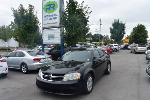 2013 Dodge Avenger for sale at Rite Ride Inc in Murfreesboro TN