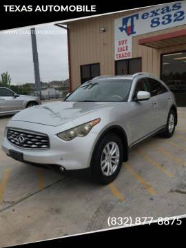 2009 Infiniti FX35 for sale at TEXAS AUTOMOBILE in Houston TX
