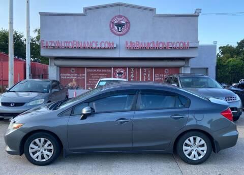 2012 Honda Civic for sale at Eazy Auto Finance in Dallas TX
