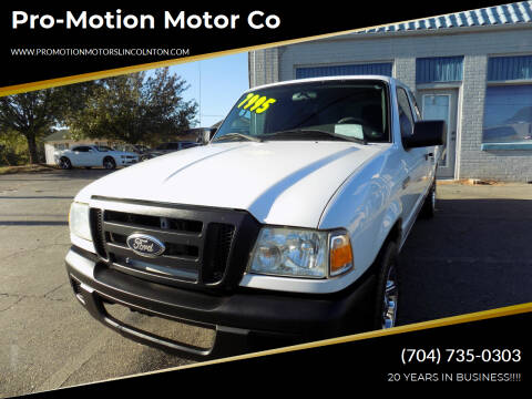 2007 Ford Ranger for sale at Pro-Motion Motor Co in Lincolnton NC