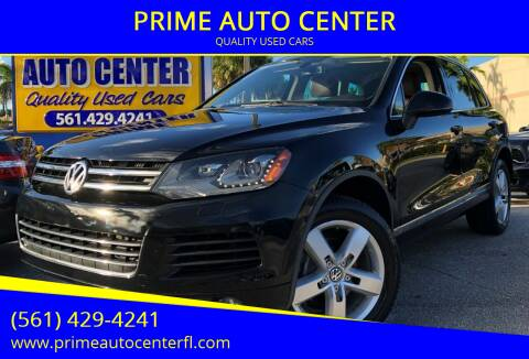 2011 Volkswagen Touareg for sale at PRIME AUTO CENTER in Palm Springs FL