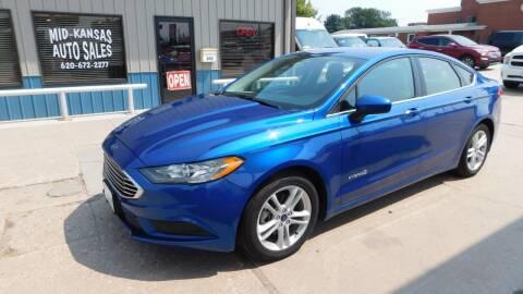 2018 Ford Fusion Hybrid for sale at Mid Kansas Auto Sales in Pratt KS