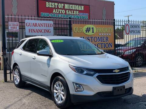 2018 Chevrolet Equinox for sale at Best of Michigan Auto Sales in Detroit MI