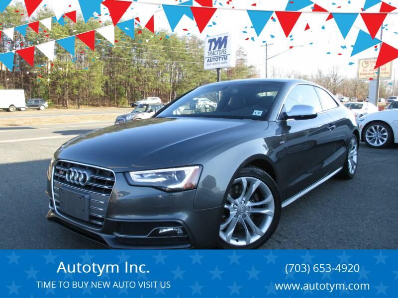 2017 Audi S5 for sale at AUTOTYM INC in Fredericksburg VA