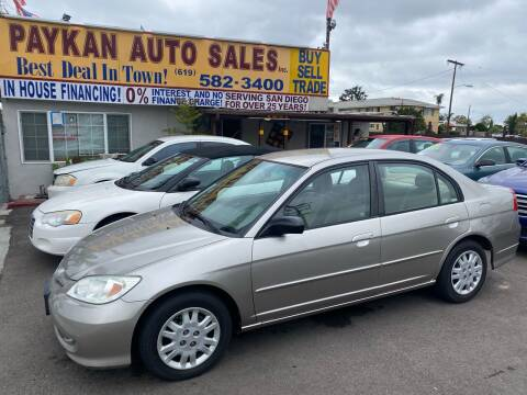 2005 Honda Civic for sale at Paykan Auto Sales Inc in San Diego CA