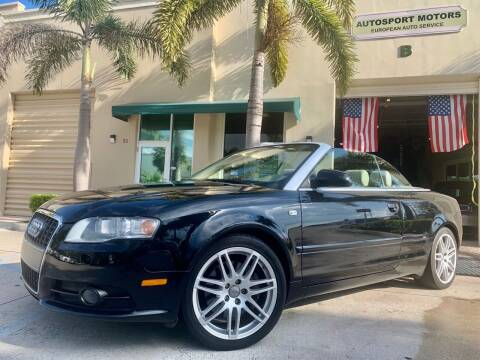 2009 Audi A4 for sale at AUTOSPORT MOTORS in Lake Park FL