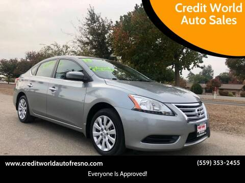 2013 Nissan Sentra for sale at Credit World Auto Sales in Fresno CA