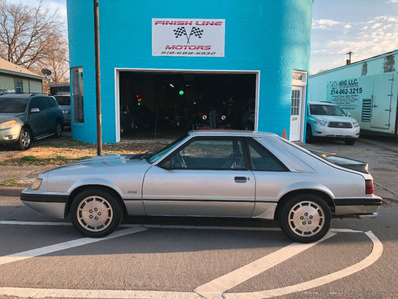 1984 Ford Mustang for sale at Finish Line Motors in Tulsa OK