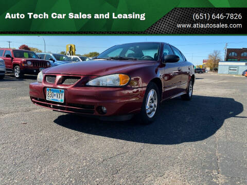 2003 Pontiac Grand Am for sale at Auto Tech Car Sales and Leasing in Saint Paul MN