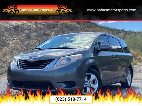 2012 Toyota Sienna for sale at Baba's Motorsports, LLC in Phoenix AZ