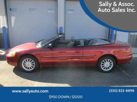 2002 Chrysler Sebring for sale at Sally & Assoc. Auto Sales Inc. in Alliance OH