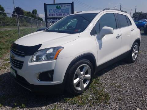 2015 Chevrolet Trax for sale at Cascade Used Auto Sales in Martinsburg WV