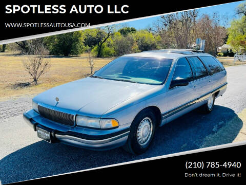 1996 Buick Roadmaster for sale at SPOTLESS AUTO LLC in San Antonio TX