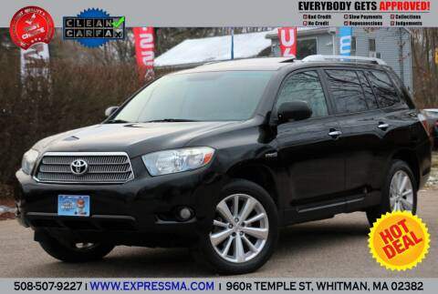 2008 Toyota Highlander Hybrid for sale at Auto Sales Express in Whitman MA