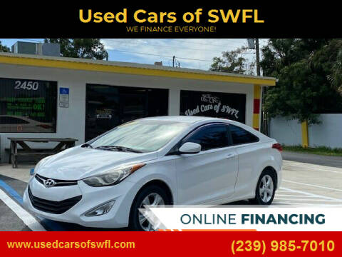 2013 Hyundai Elantra Coupe for sale at Used Cars of SWFL in Fort Myers FL