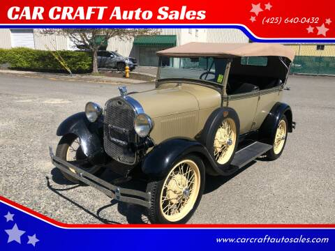 1929 Ford A PHAETON for sale at Car Craft Auto Sales Inc in Lynnwood WA