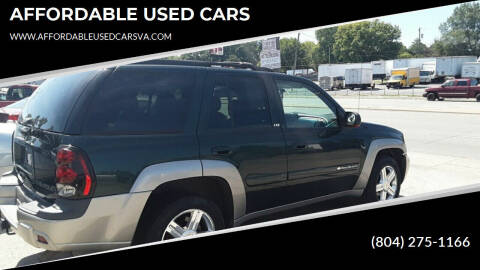 2003 Chevrolet TrailBlazer for sale at AFFORDABLE USED CARS in Richmond VA