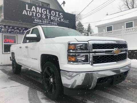 2015 Chevrolet Silverado 1500 for sale at Langlois Auto and Truck LLC in Kingston NH
