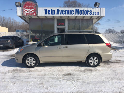 2004 Toyota Sienna for sale at Velp Avenue Motors LLC in Green Bay WI