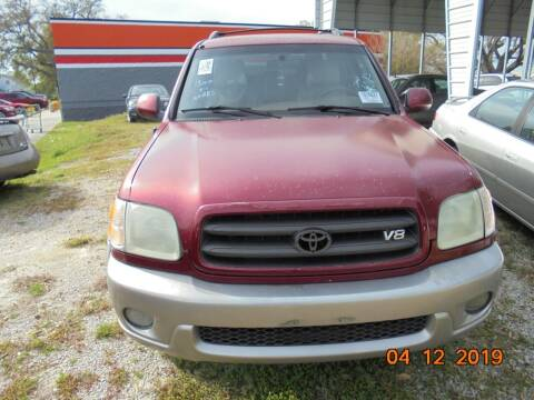 2002 Toyota Sequoia for sale at Webb's Automotive Inc 11 in Morehead City NC