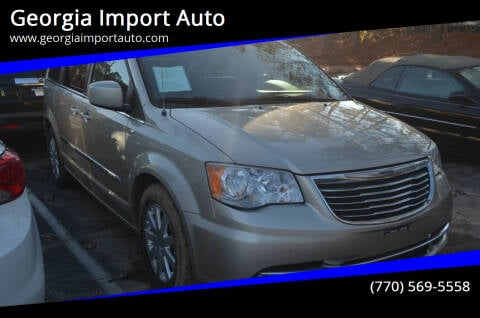 2014 Chrysler Town and Country for sale at Georgia Import Auto in Alpharetta GA