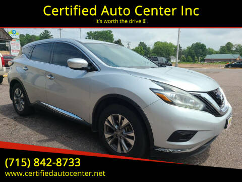2015 Nissan Murano for sale at Certified Auto Center Inc in Wausau WI