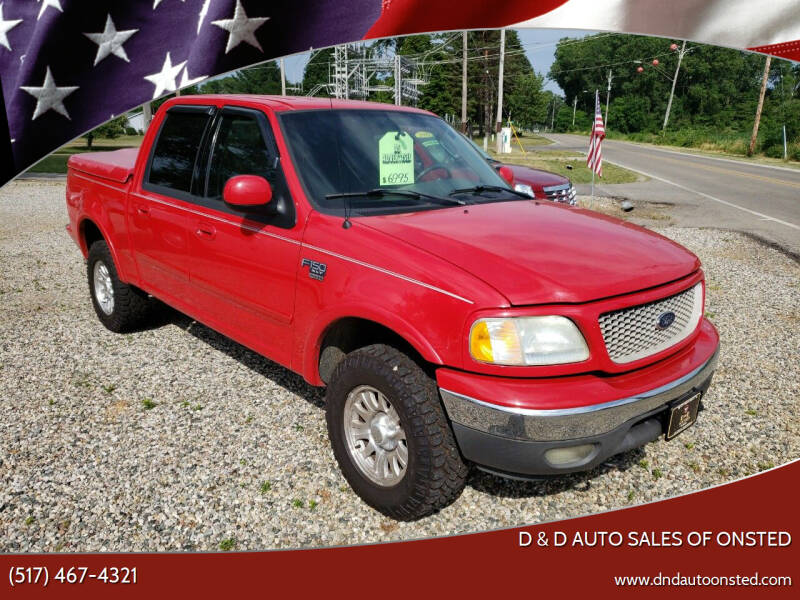 2003 Ford F-150 for sale at D & D Auto Sales Of Onsted in Onsted MI