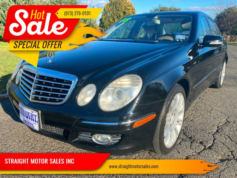 2008 Mercedes-Benz E-Class for sale at STRAIGHT MOTOR SALES INC in Paterson NJ