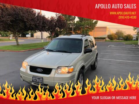 2005 Ford Escape for sale at APOLLO AUTO SALES in Sacramento CA