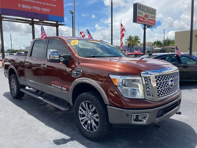 2017 Nissan Titan XD for sale at MACHADO AUTO SALES in Miami FL