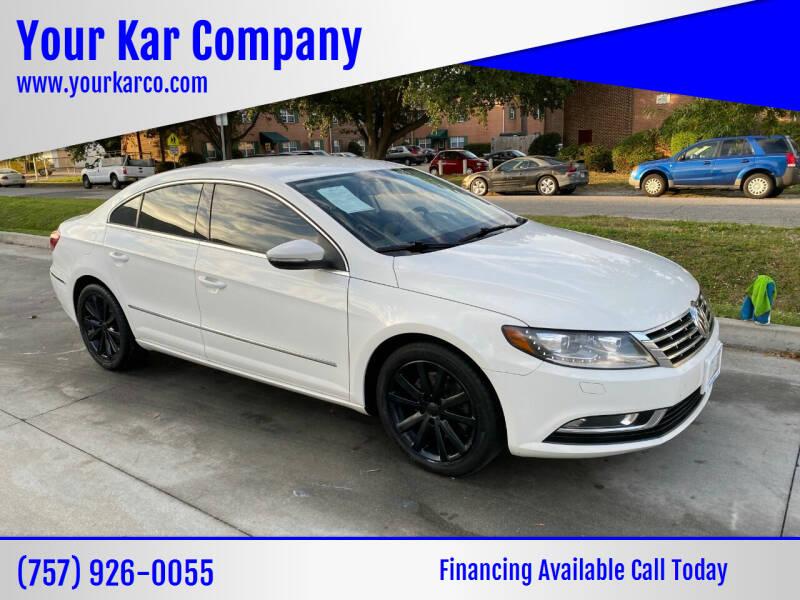 2014 Volkswagen CC for sale at Your Kar Company in Norfolk VA