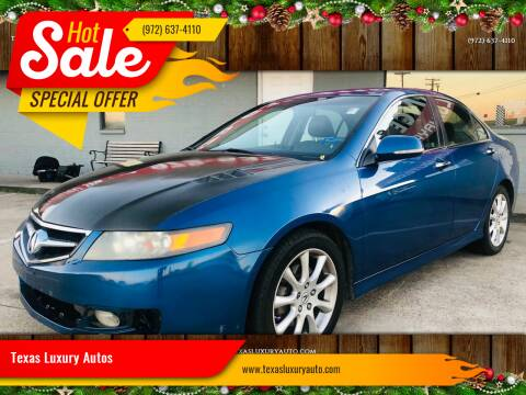 2008 Acura TSX for sale at Texas Luxury Auto in Cedar Hill TX