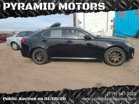 2006 Lexus IS 250 for sale at PYRAMID MOTORS - Pueblo Lot in Pueblo CO