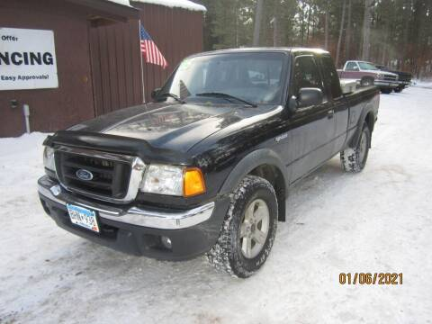 2005 Ford Ranger for sale at SUNNYBROOK USED CARS in Menahga MN