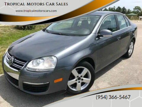 2008 Volkswagen Jetta for sale at Tropical Motors Car Sales in Deerfield Beach FL