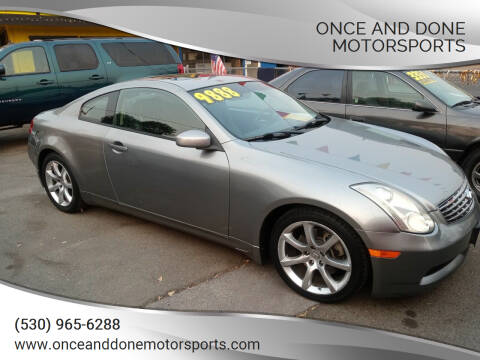 2006 Infiniti G35 for sale at Once and Done Motorsports in Chico CA
