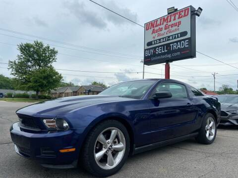 2010 Ford Mustang for sale at Unlimited Auto Group in West Chester OH